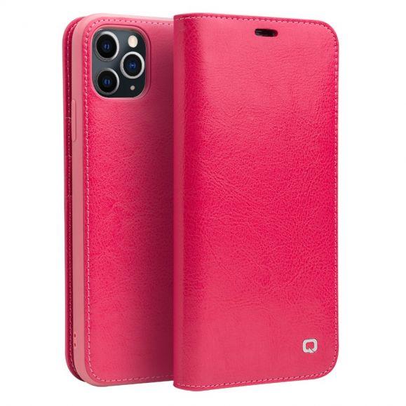 iPhone 11 Pro Max - Housse cuir véritable classique - Rose
