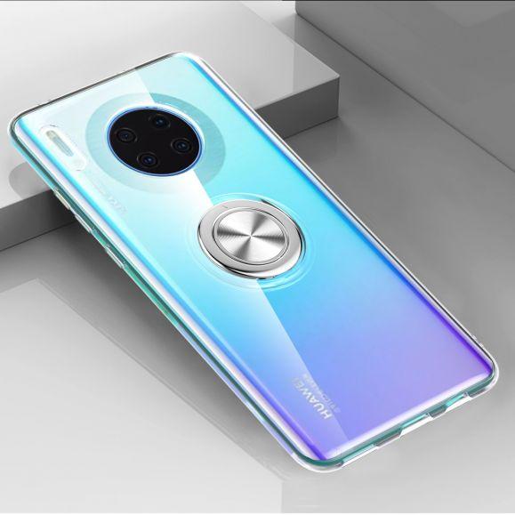 Huawei Mate 30 - Coque transparente avec anneau magnétique
