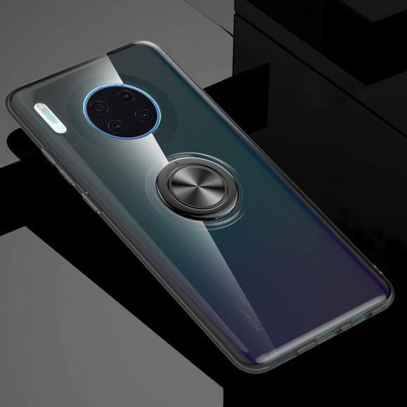 Coque Huawei Mate 30 transparente avec anneau magnétique