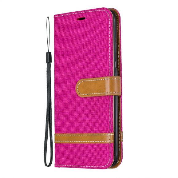 Housse Huawei Mate 30 Lite revêtement tissu avec lanière