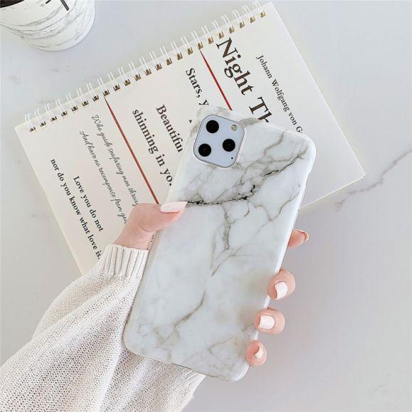 iPhone 11 Pro Max - Coque silicone marbre
