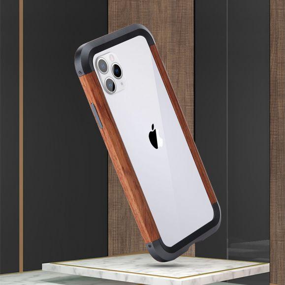 iPhone 11 Pro - Coque bois et métal