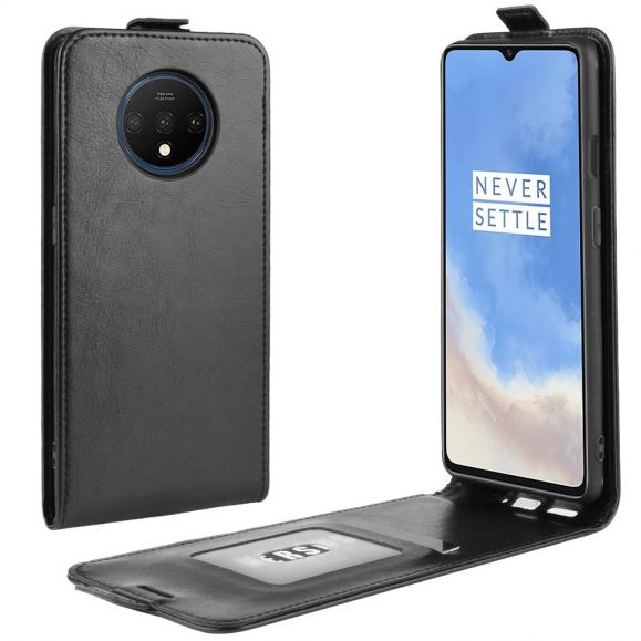 OnePlus 7T - Housse simili cuir avec rabat verticale