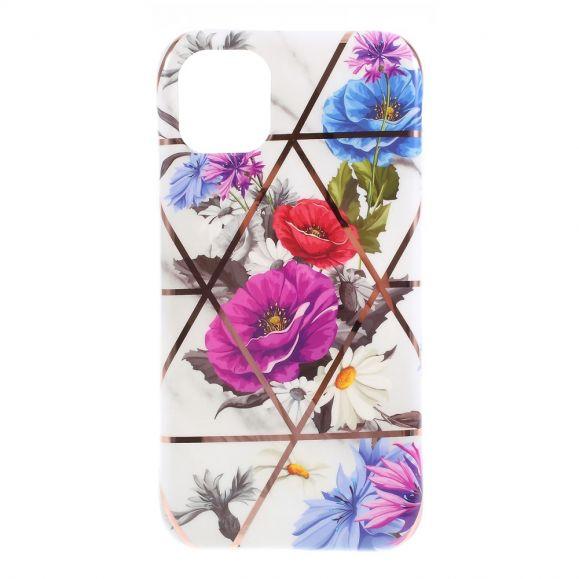iPhone 11 - Coque en Silicone Fleurs Colorées