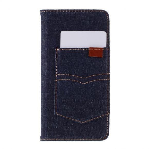 iPhone 11 - Housse Jeans avec porte-cartes - Bleue Marine