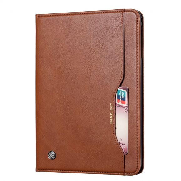iPad 10.2 (2019) - Housse avec porte cartes effet cuir