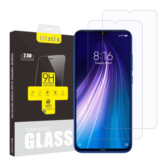 Xiaomi Redmi Note 8 - Pack de 2 films en verre trempé