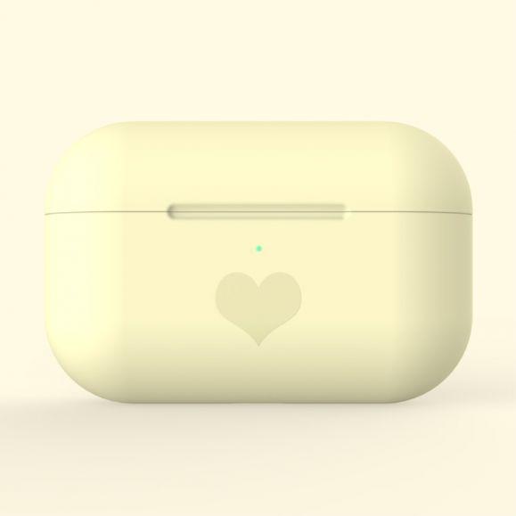 AirPods Pro - Coque Motif Coeur en Silicone