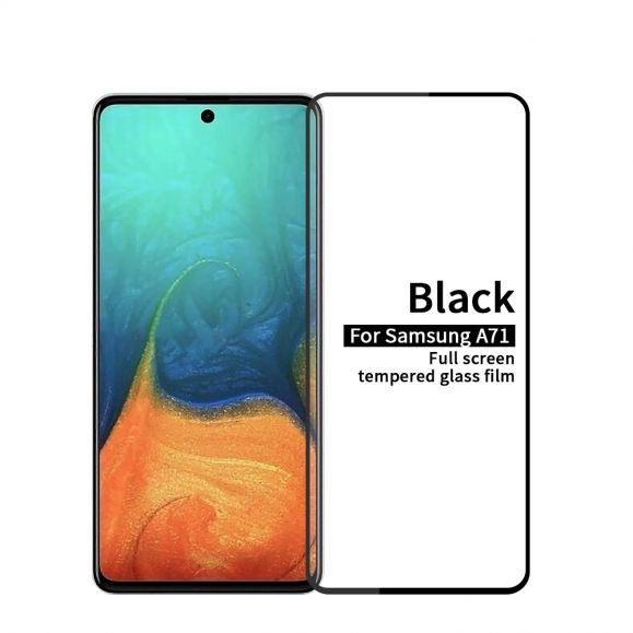 Samsung Galaxy A71 - Protection d'écran en verre trempé full size