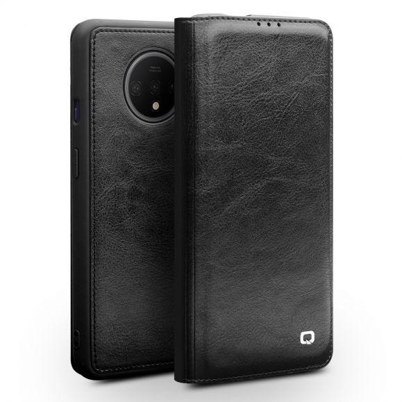 OnePlus 7T - Housse premium en cuir véritable - Noire