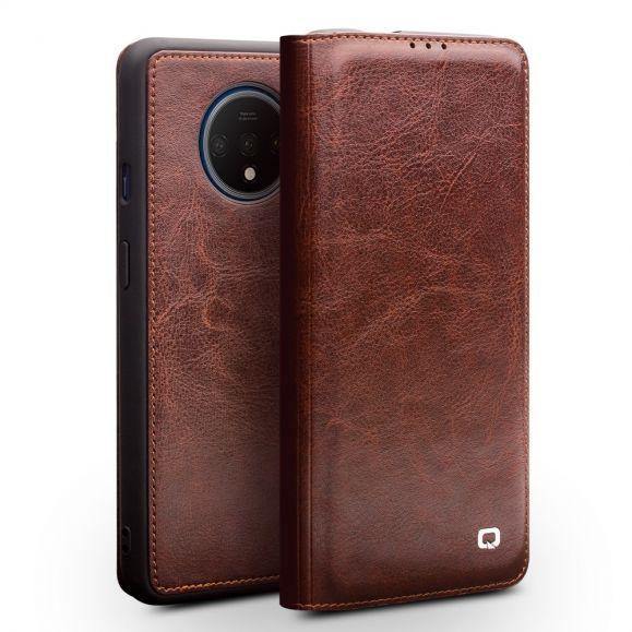 OnePlus 7T - Housse premium en cuir véritable - Marron