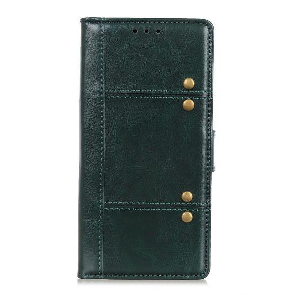 Samsung Galaxy Note 10 Lite - Housse Cloutée imitation cuir - Vert