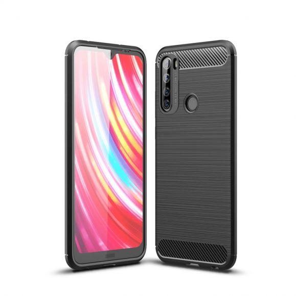 Xiaomi Redmi Note 8T - Coque gel brossé carbone - Noir