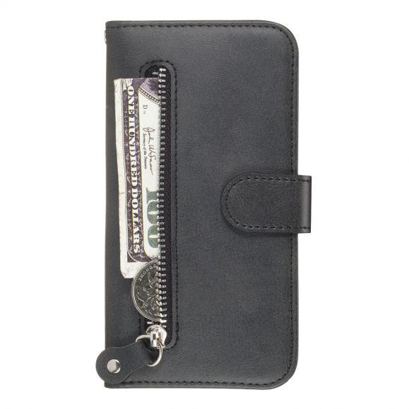 Samsung Galaxy A51 - Housse Effet Cuir Zipper Pocket