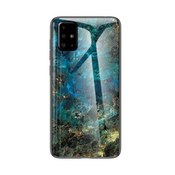 Samsung Galaxy A51 - Coque Marbre Océane dos en verre