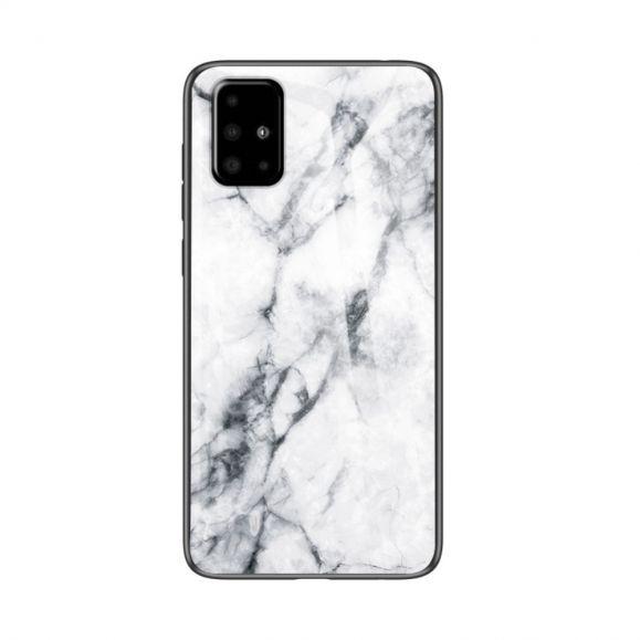 Samsung Galaxy A51 - Coque Marbre Céline dos en verre