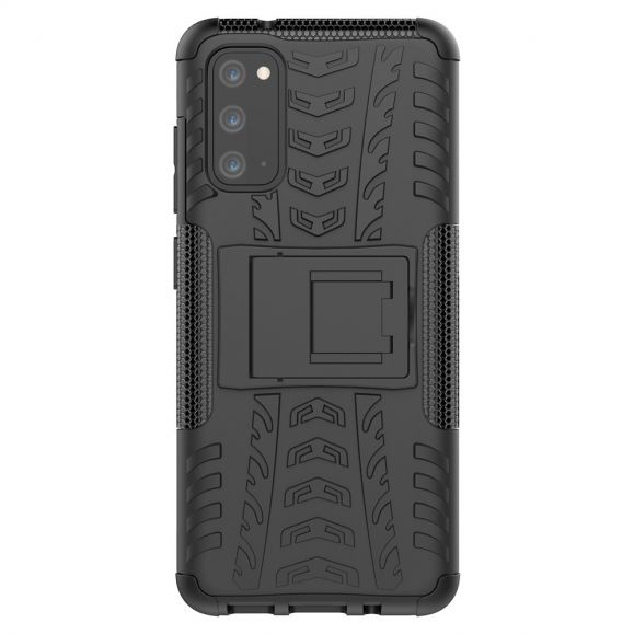 Samsung Galaxy S20 - Coque antidérapante avec support intégré - Noir