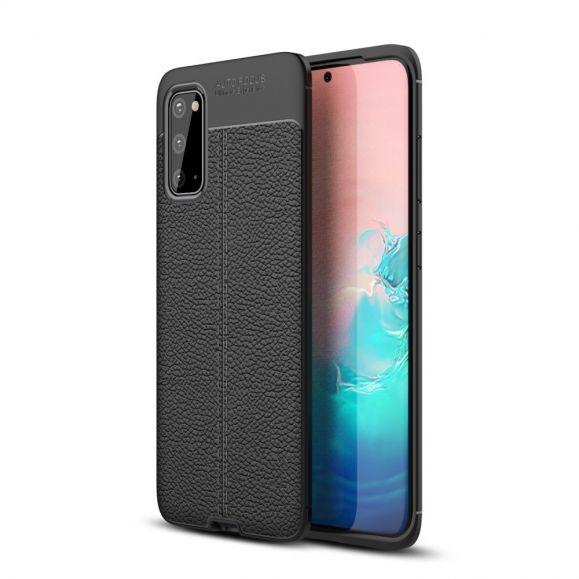 Samsung Galaxy S20 - Coque style cuir en gel