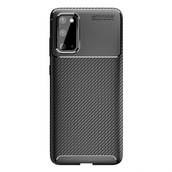 Samsung Galaxy S20 - Coque Style Fibre de Carbone en Gel