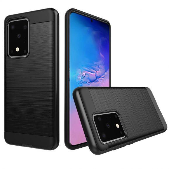 La Sabine - Coque Samsung Galaxy S20 Plus Effet Métal Brossé