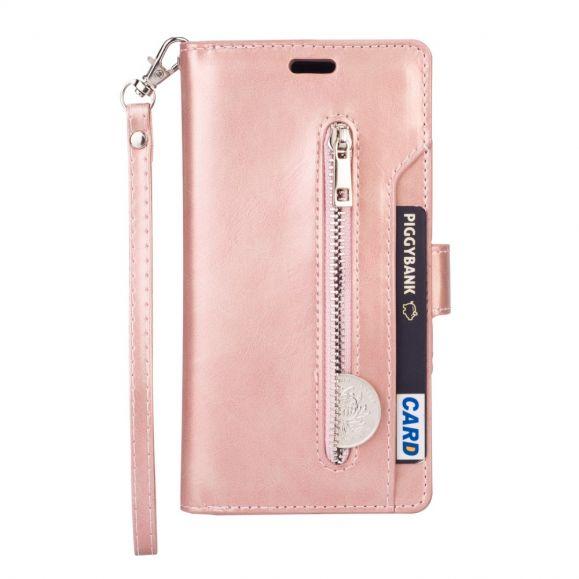 Pocket - Étui Samsung Galaxy S20 effet cuir avec lanière