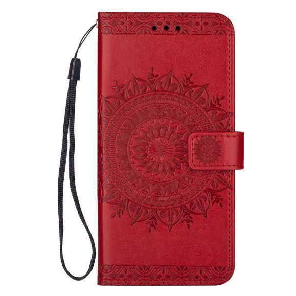 Housse Samsung Galaxy S20 mandala à lanière - Rouge
