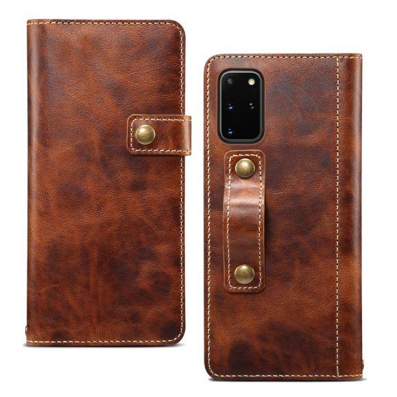 Grip Armour - Housse Samsung Galaxy S20 Plus cuir véritable