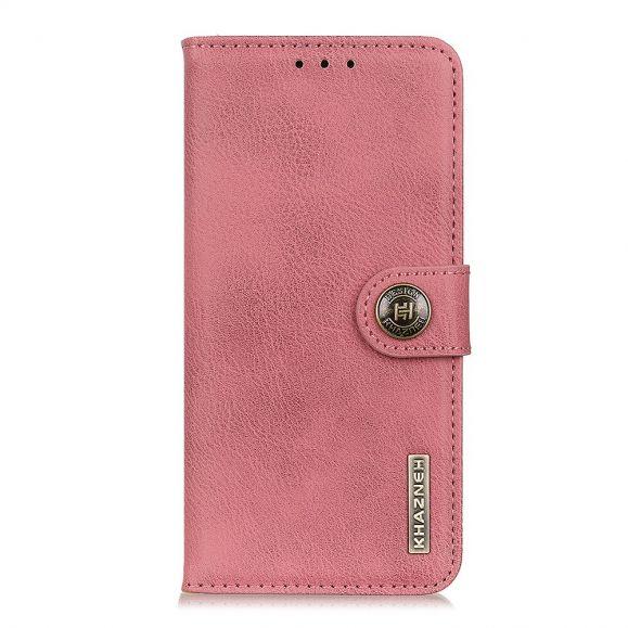 KHAZNEH - Housse Samsung Galaxy A41 imitation cuir - Rose