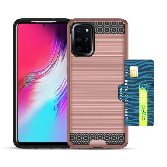 Coque Samsung Galaxy S20 Plus métal brossé porte carte