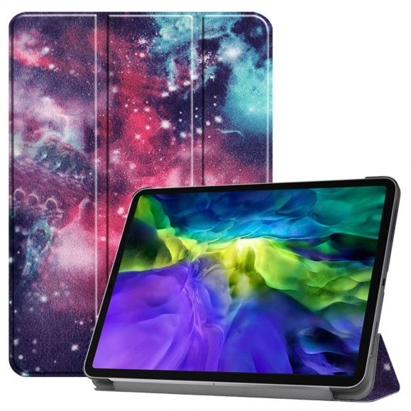 Housse iPad Pro 11 (2020) avec rabat intelligent motif galaxie