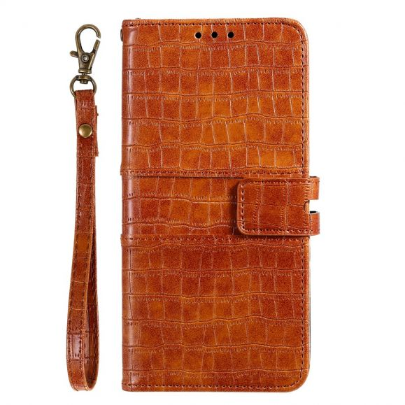 Housse Huawei P40 Pro style cuir effet croco