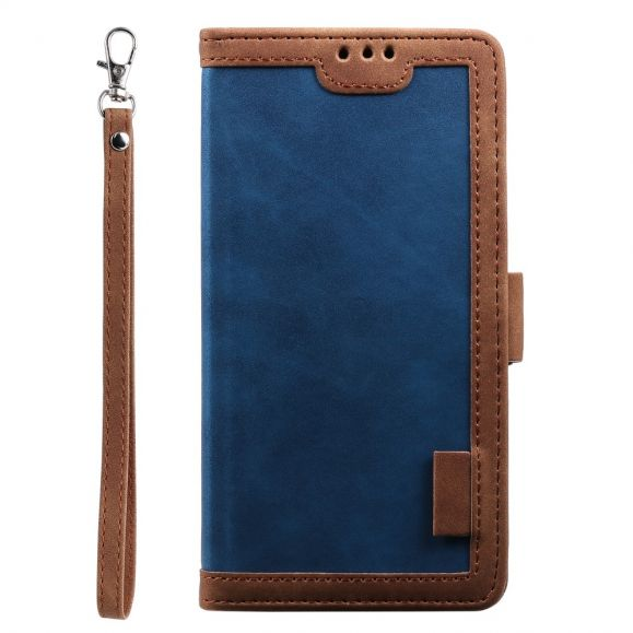 Housse Huawei P40 Vintage Pocket avec lanière