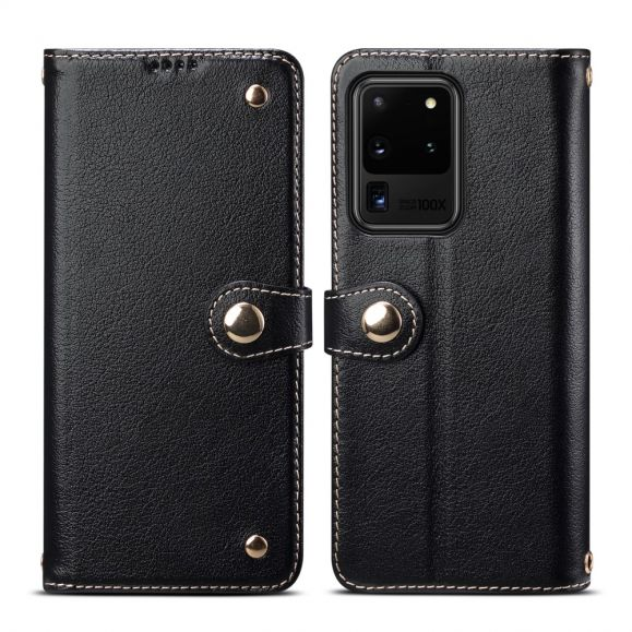 Housse Samsung Galaxy S20 Ultra cuir premium coutures