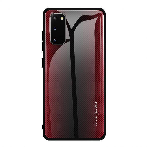 Coque Samsung Galaxy S20 carbone dos en verre