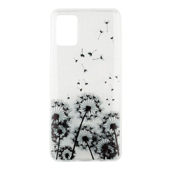 Coque Samsung Galaxy A71 transparente motifs pissenlits