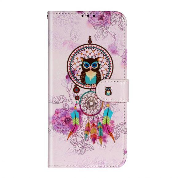 Housse Samsung Galaxy A71 hibou et attrape rêves colorés