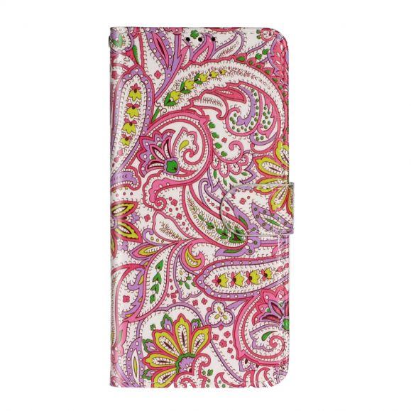 Housse Samsung Galaxy A71 paisley fleur