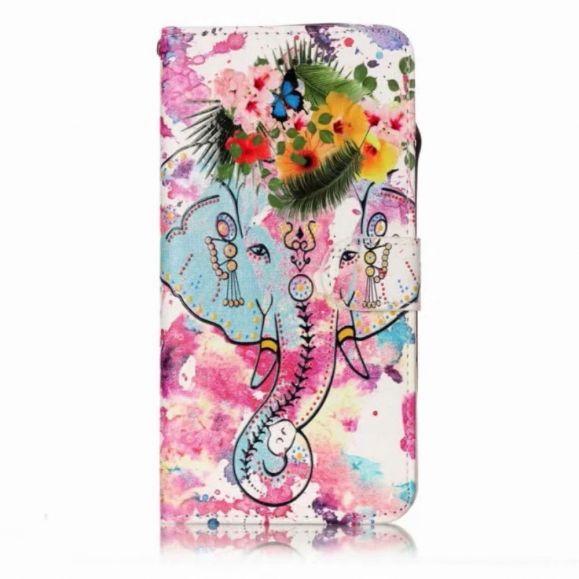 Housse Samsung Galaxy A71 Éléphant tropical