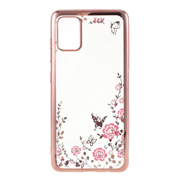Coque Samsung Galaxy A51 transparente printemps fleuri