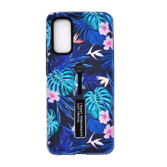 Coque Samsung Galaxy A51 Feuilles Tropicales Fonction Support