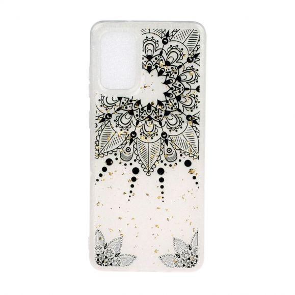 Coque Samsung Galaxy A51 couronne fleur style oriental