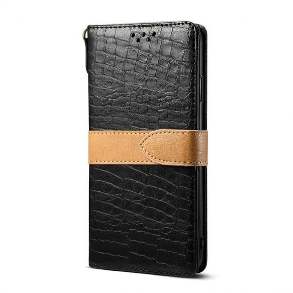 Étui Samsung Galaxy S20 imitation cuir effet croco