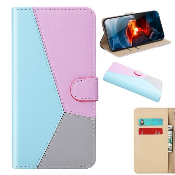 Housse Huawei P40 Lite tricolore coutures