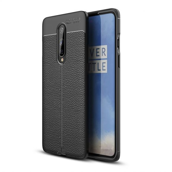 Coque OnePlus 8 Gel Finition Simili Cuir