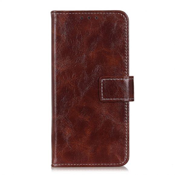 Étui OnePlus 8 Pro effet cuir luxueux coutures