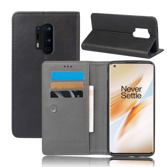 Housse OnePlus 8 Pro MDay style cuir porte-cartes