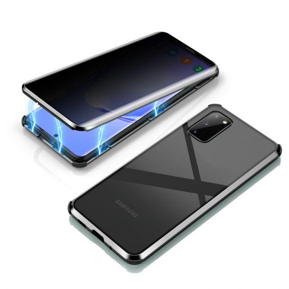 Coque Samsung Galaxy S20 détachable verre trempé avec filtre de confidentialité