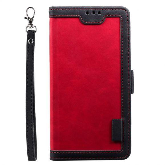 Housse Samsung Galaxy S20 Vintage Pocket avec lanière