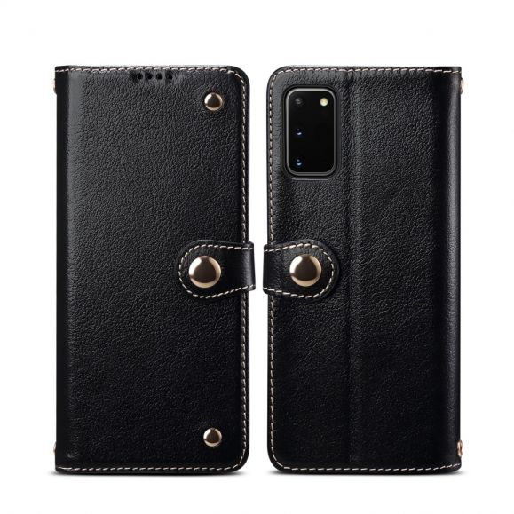 Housse Samsung Galaxy S20 cuir premium coutures