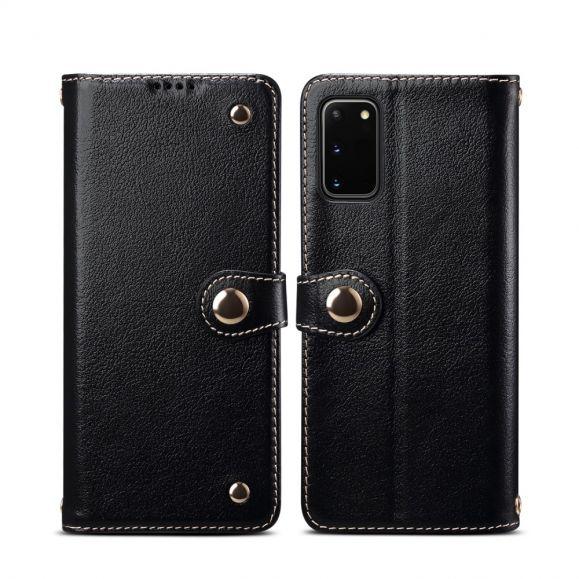 Housse Samsung Galaxy S20 cuir premium coutures